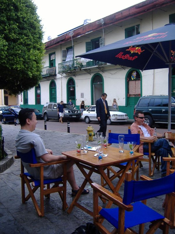 Enjoying a drink, Casco Viejo, Panama City