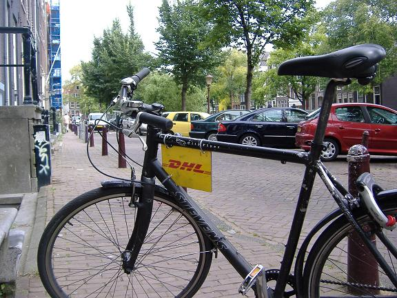 Bike courier from DHL, Amsterdam