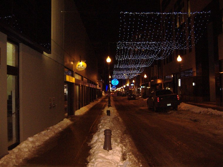 St Joseph Street Lights, Quebec City