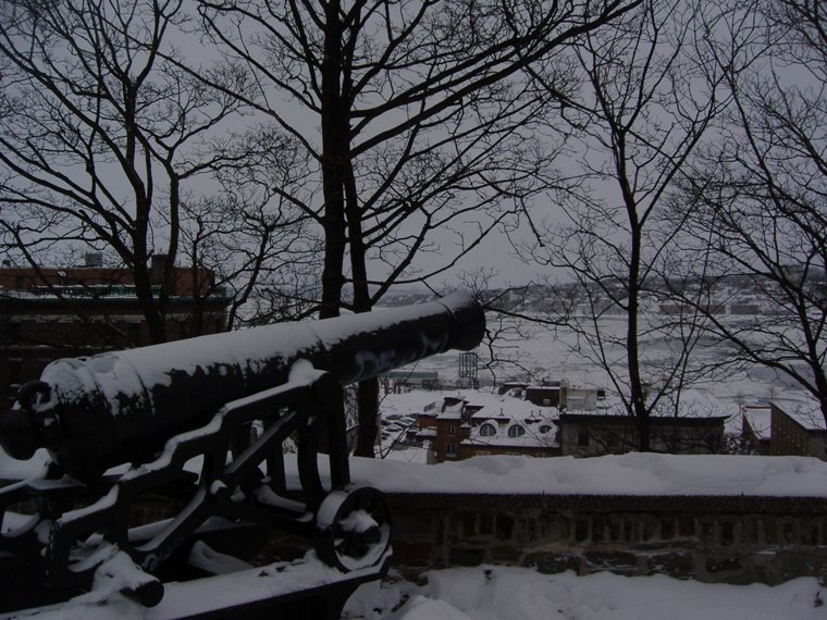 Snowy Cannon in Quebec City