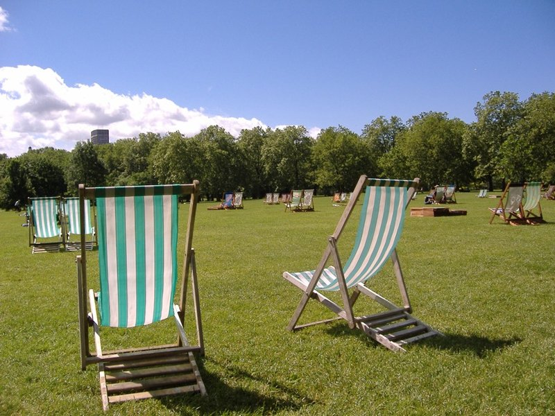 Green Park Chairs stretching to infinity