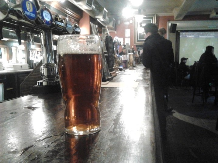 A pint in the Famous Cock, Highbury