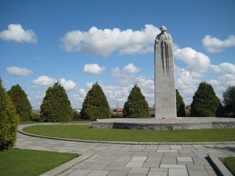 The St Julien Canadian Memorial, St. Julien, Belgium
