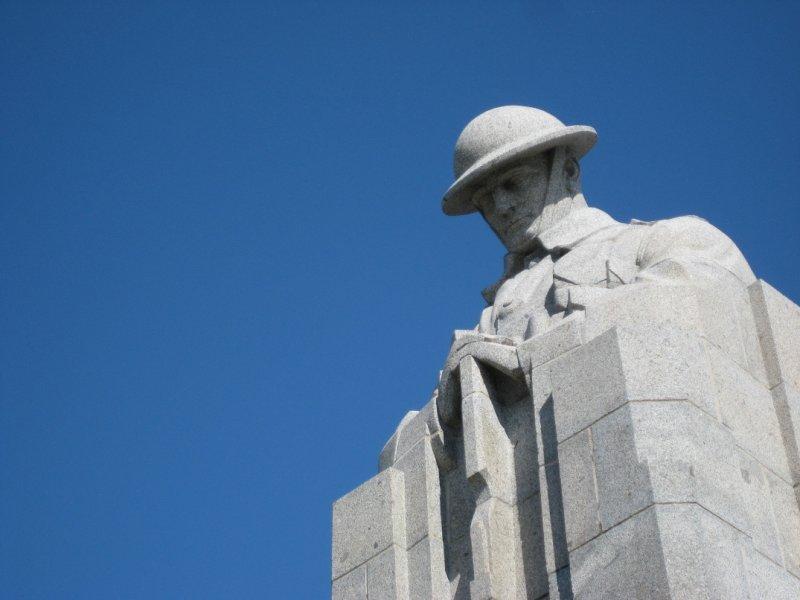 Solider Looking Down, St. Julien Canadian Memorial, St. Julien, Belgium