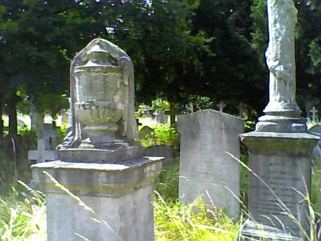 Vase cloaked Brompton Cemetery