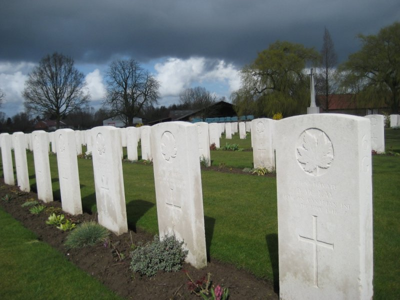 Headstones in Small WWI Gravesite just outside Ypres