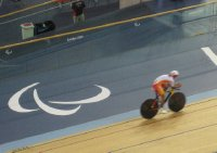 2012 09 01 Paralympic Symbol and Velodrome