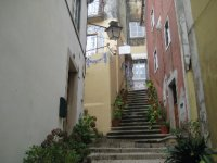Stairs in the Narrow Medieval Streets in Sintra