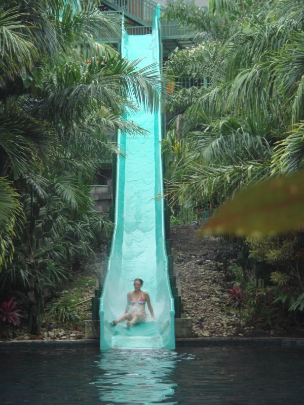 Lori on the slide