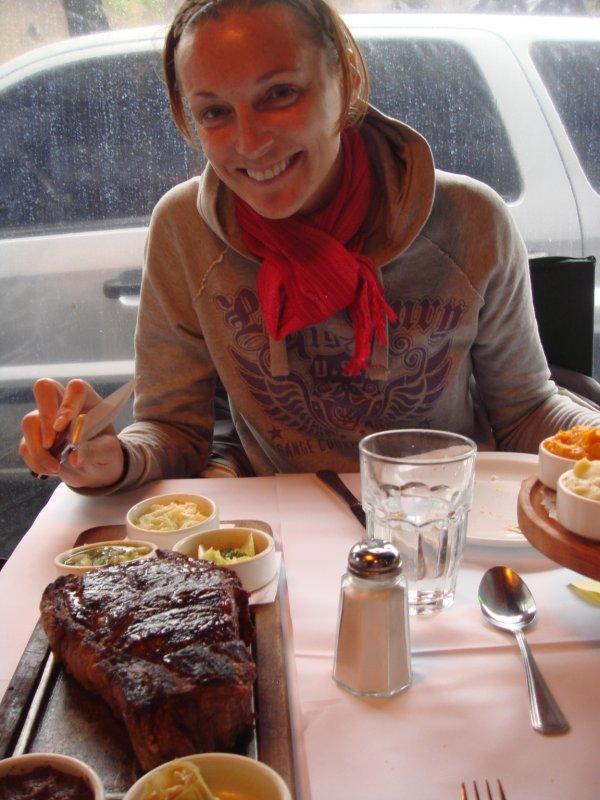 Lori & steak