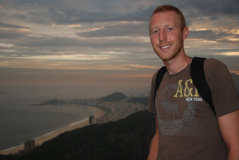 Ross overlooking copacabana beach