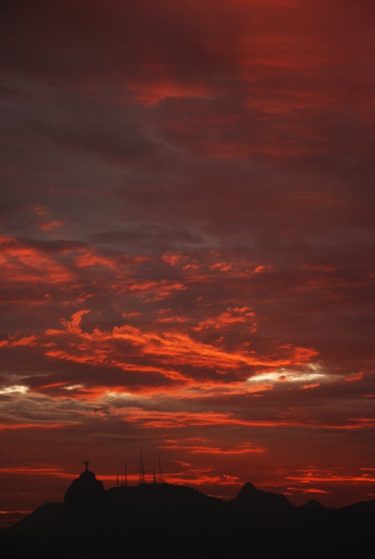 Christ at sunset