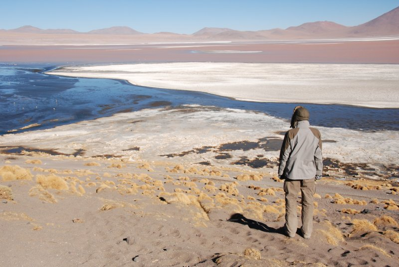 Overlooking the laguna colorada