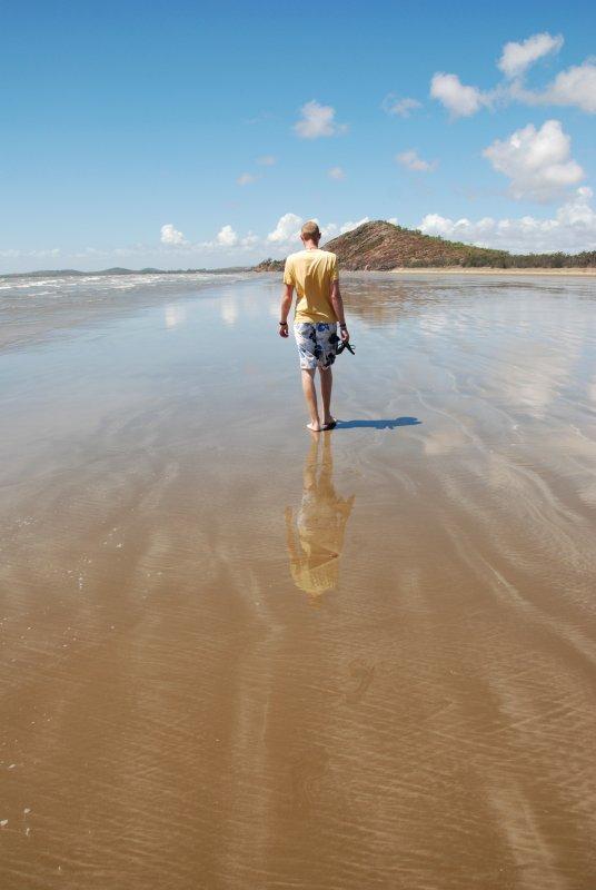 Ross beach reflections