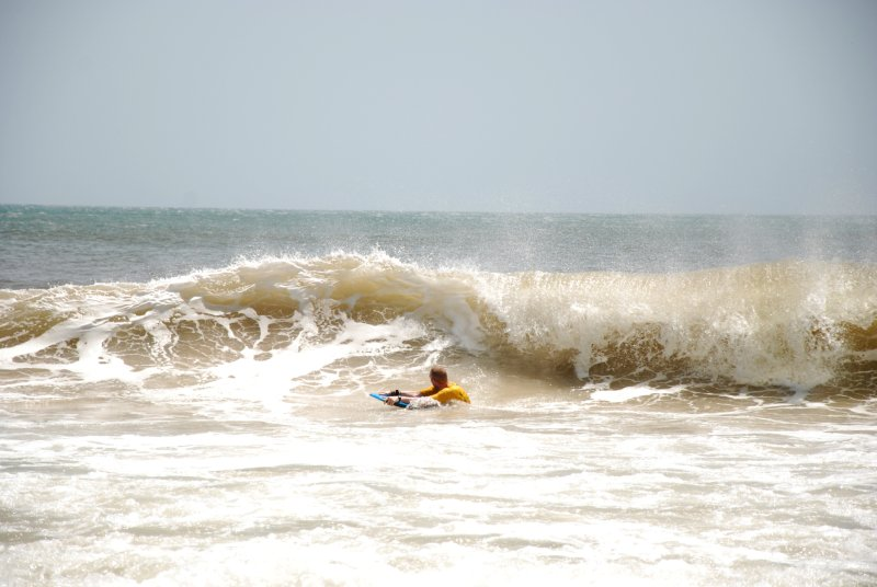 Ross catching wave