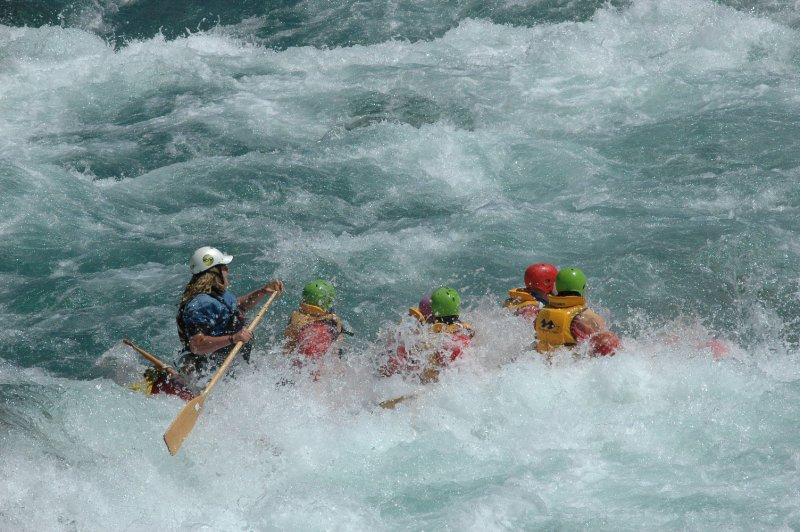 going into the rapid