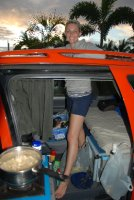 Lori in the van