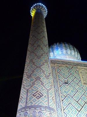 Registan, Samarkhand at night