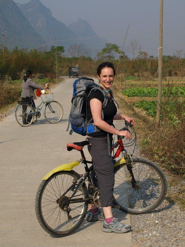 China - biking aroun karst scenery at Yangshuo