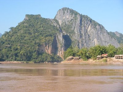 Mekong, Laos - Fahrt nach Luang Prabang Tag - Mekong