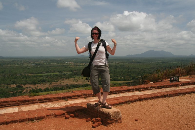 The final step at the top of Sigiriya Rock