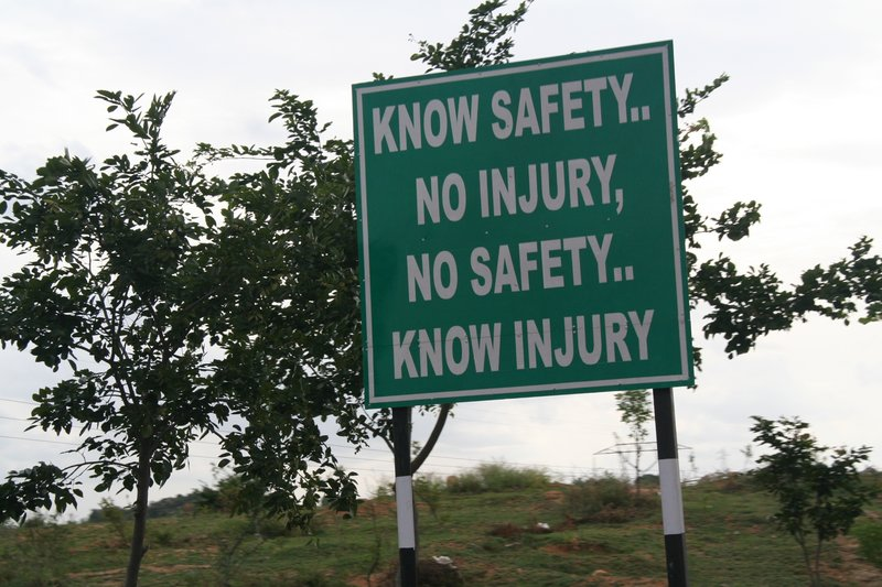 Know Safety... No Inury, No Safety... Know Injury Photo by hilarywh