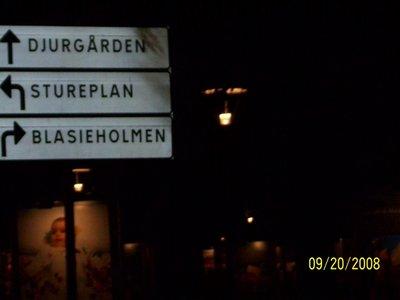 Stockholm Street Sign