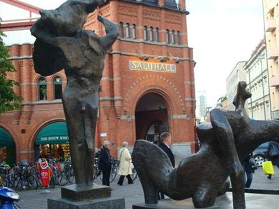 Market Scene- Sculpture