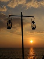 Sunset at Samudra Beach resort
