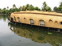 Houseboat along Alleppey backwaters