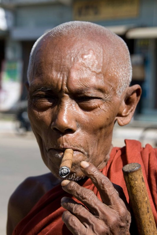 Monk and cheroot