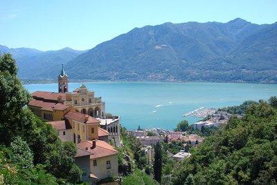 Locarno mit Blick auf den Lago Maggiore