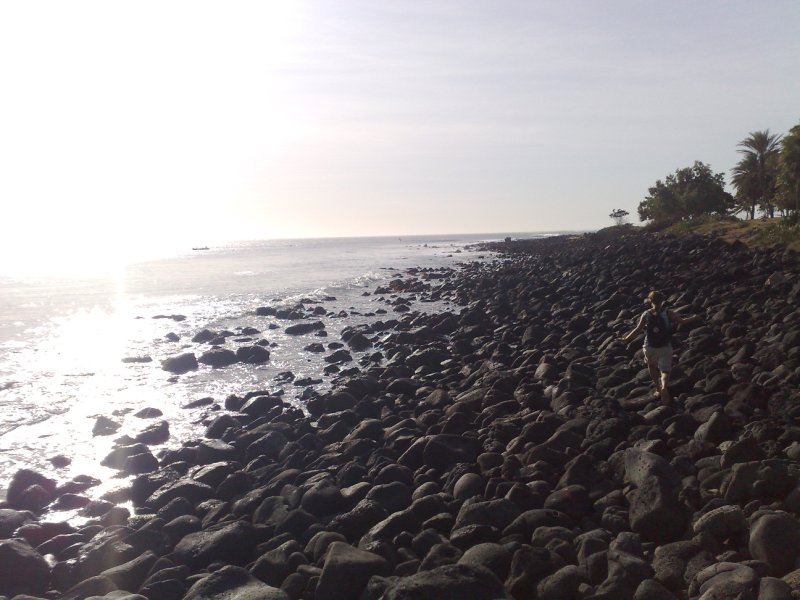 Beach walking 1