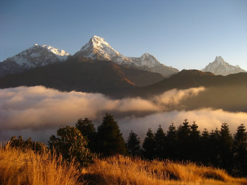 Annapurna South at sunrise