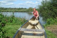 Carrying the canoe