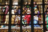Glass pane, Cathedral, Brussels
