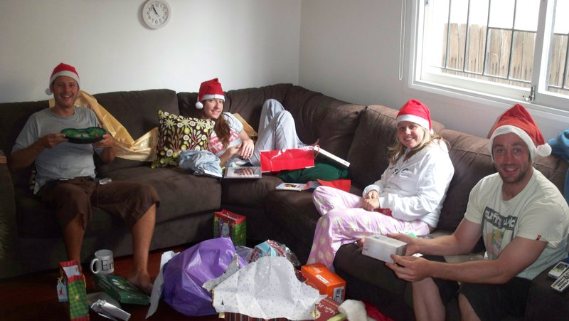 Xmas morning stockings & presents