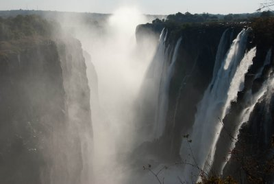 The indigenous people call the falls Mosi-oa-Tunya (the Smoke that Thunders).