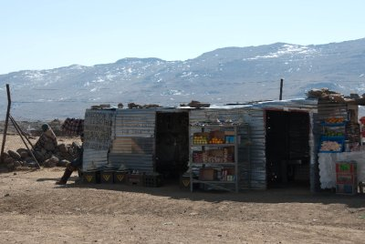 Village store at the Lesotho border. The highest bar in Africa is located here.