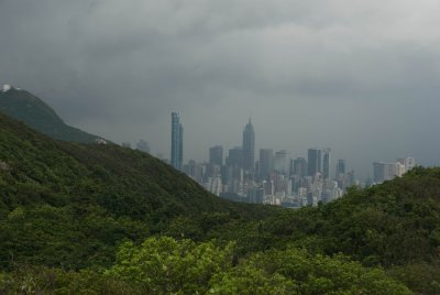 A view of Hong Kong Island from the Wilson Trail, a three hour hike Dave's cousin Clancey introduced us to on a very rainy day.