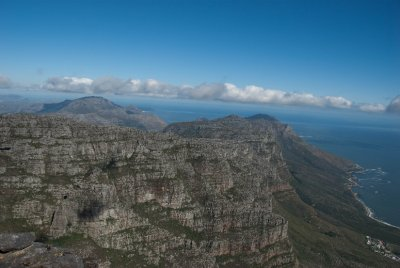 A view of the southern Cape from Table Mountain.