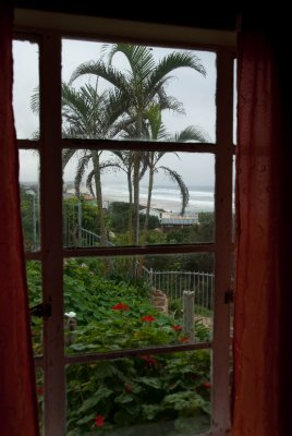View from our hostel window at the Wildnerness Beach House.