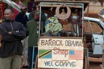 Obama store in Tanzania.