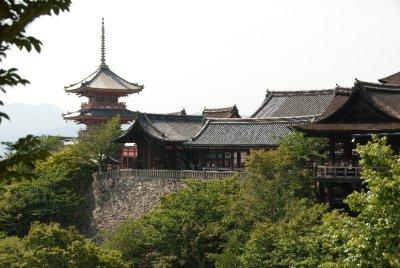 The Kiyomizu-dera Temple.