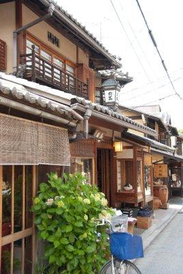 A typical Machiya street.