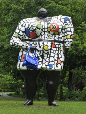 """Miss Black Power"", Niki de Saint Phalle. Sculpture at the Hakone Open Air Museum."