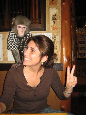 Elizabeth monkey'ing around.