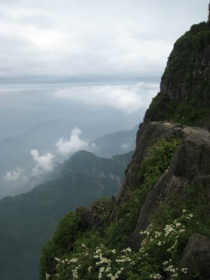 View from the top of Mt. Emei.
