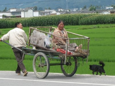 A local farmer transports his wife. Who needs a Civic?