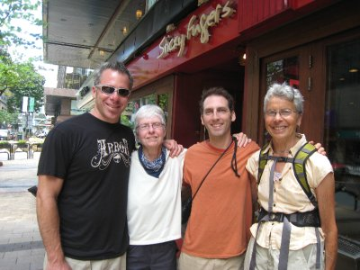 Hangin' in Kowloon with cousins Pat, Ellen and Clancey. After Hong Kong they headed to Thailand for another adventure.